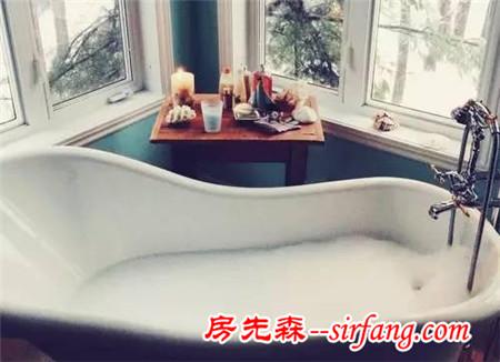 房子再小,也不能没有浴缸!