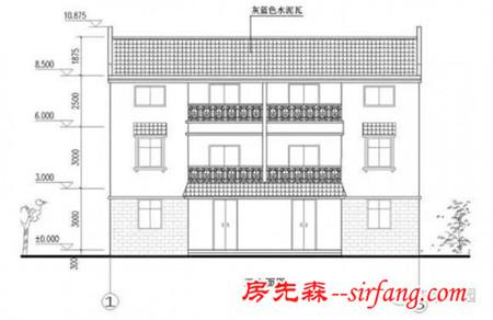 新农村自建别墅 兄弟房15米x10米 带车库含平面图纸