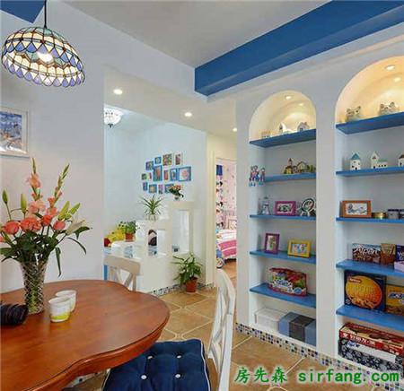它可以放在我们家居的空间的每一个角落,一个圆弧形的拱门,都是地中海