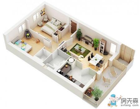 这么多精美3D室内设计图,一定有适合你家户型的!