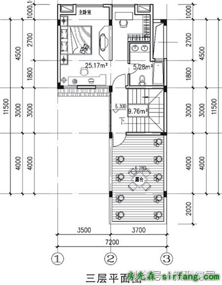 新农村别墅 7米x11米 现代外观传统布局 含平面图fw02