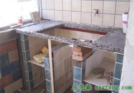 工人砌的洗衣台这么实用,我家也要来一个
