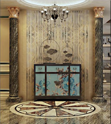 入户玄关瓷砖就是要这么贴,太好看了,尽显高大上!