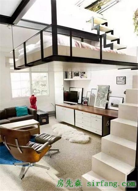 小户型复式阁楼装修效果图复式公寓美爆图片