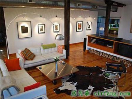 美式家居风Loft裸露出的墙面抢人眼球