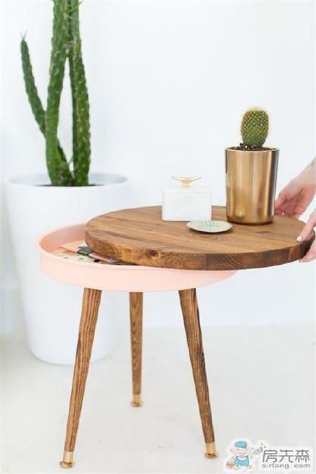 家具作品分享:带点收纳功能的小边桌