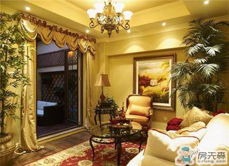 美式风格凸现乡村朴实与悠闲 美式客厅窗帘搭配