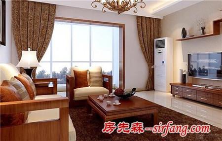 105平米三居室装修效果图 中式风格彰显大气