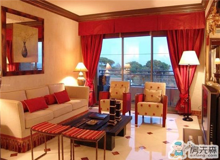 大胆用色让家居更加高贵绚丽 红色窗帘搭配