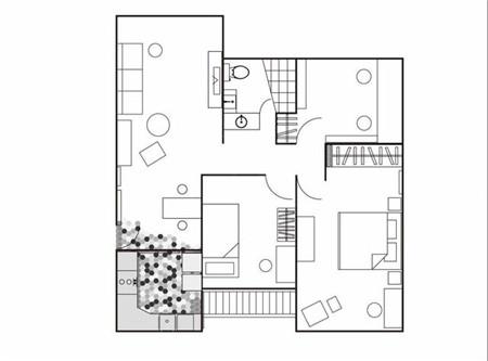 木地板直拼六角砖 美观好打理的餐厨区隔法
