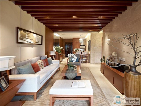 西安这户的家装,新中式风格的优雅风味