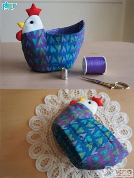 教你制作可爱实用的小鸡收纳盒 DIY布艺收纳盒