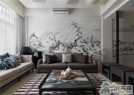 天津远洋城104平米三居室中式风格装修 吸取传统装饰