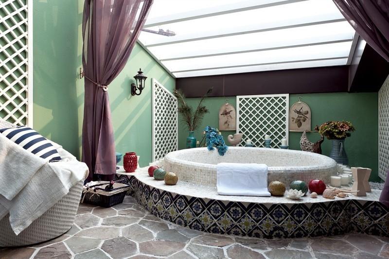 蓝白大气地中海别墅风格