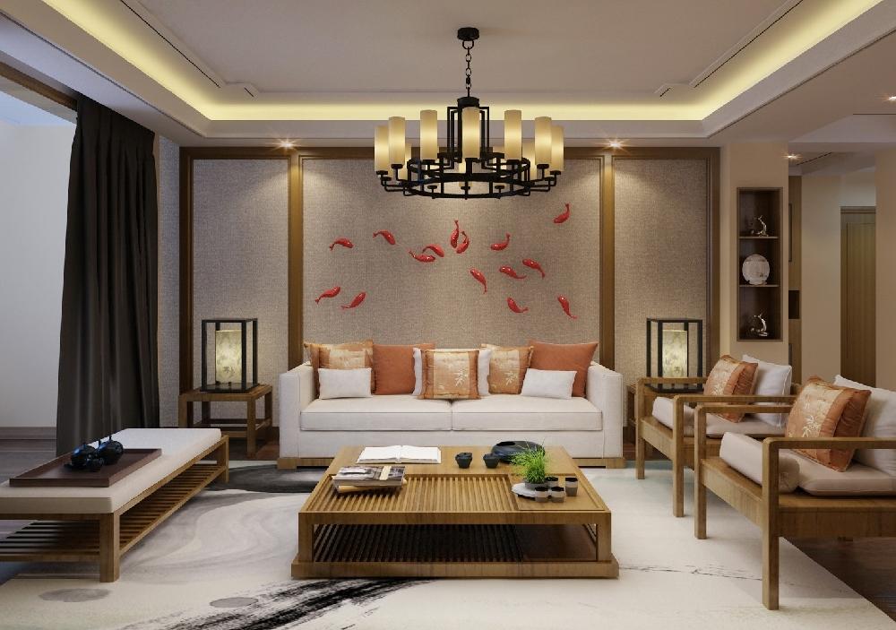 136㎡中式现代三居室