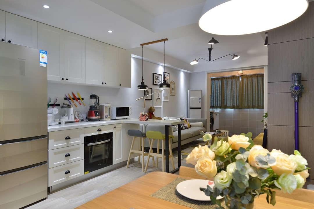 景芳五区70㎡两房户型现代风格效果图