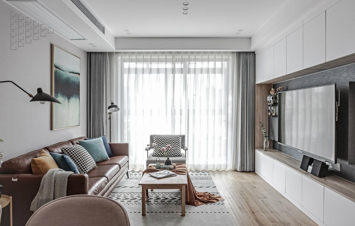 金地德胜中心89㎡两房户型中式风格效果图