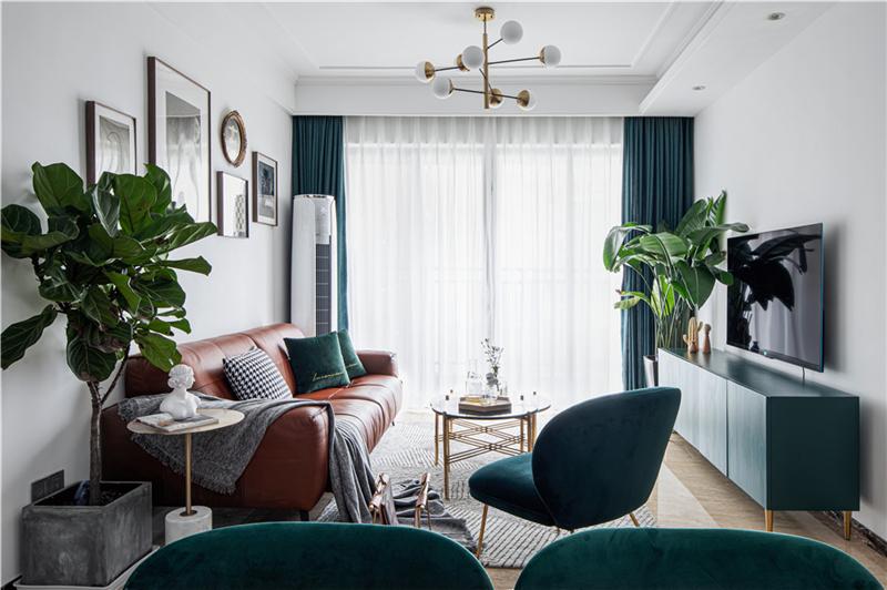 100㎡轻奢北欧风格装修,精致而浪漫的极致品三居室