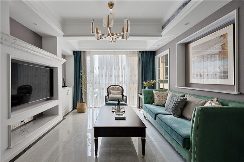 115㎡简美风格装修,至简至美深受喜爱三居室