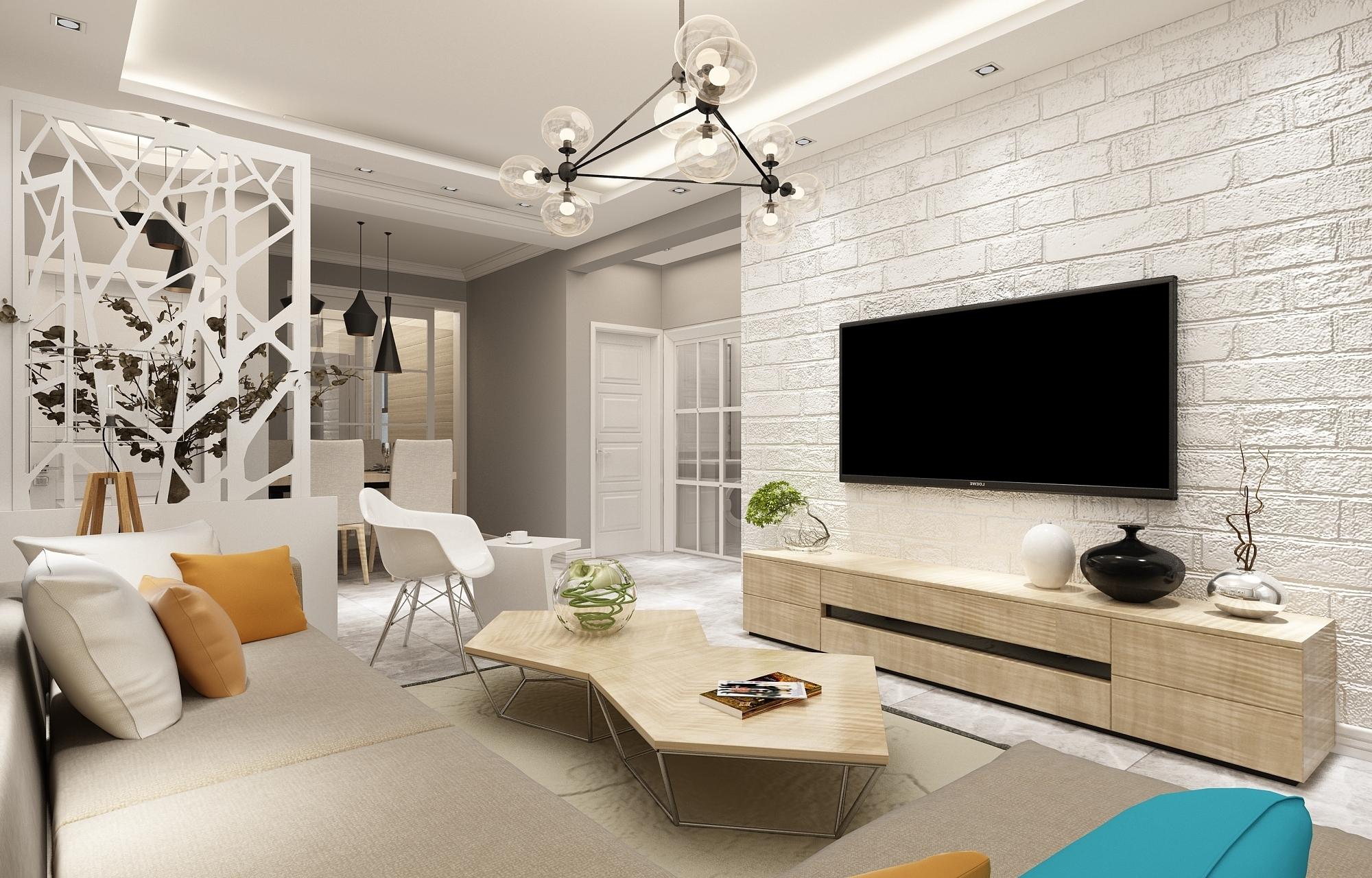 刀茅巷天园阁93平米北欧式风格三居室