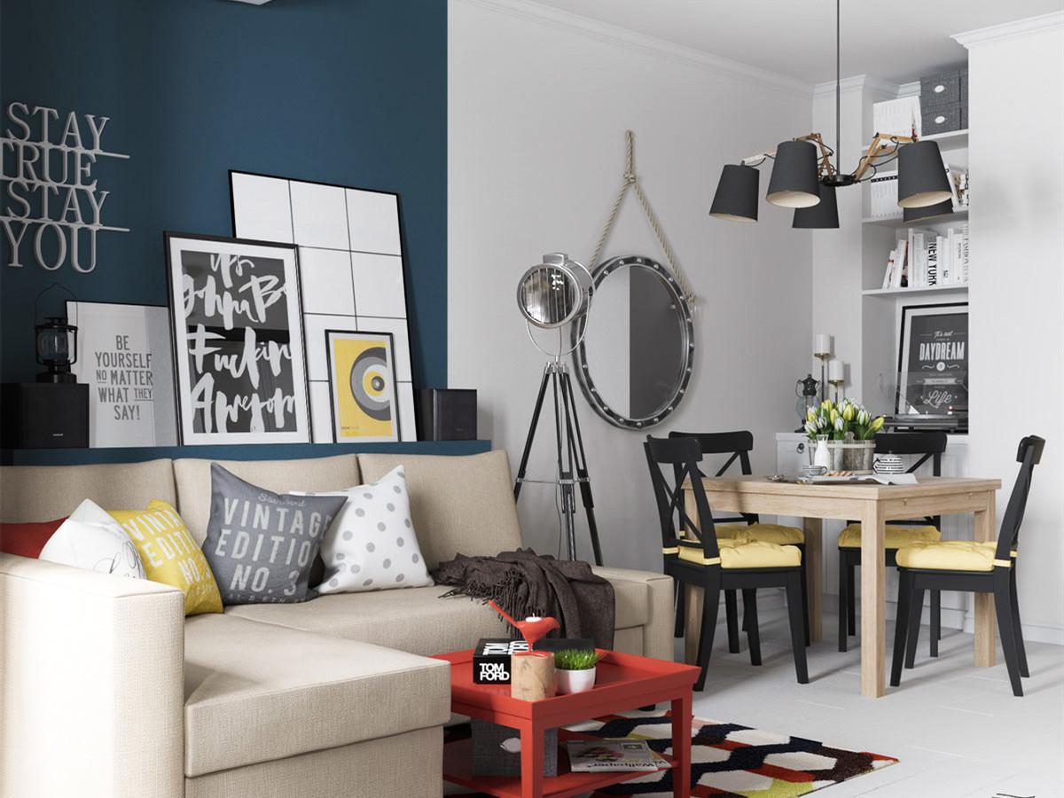 生活就是要华丽而不媚俗,83平现代简约两居室