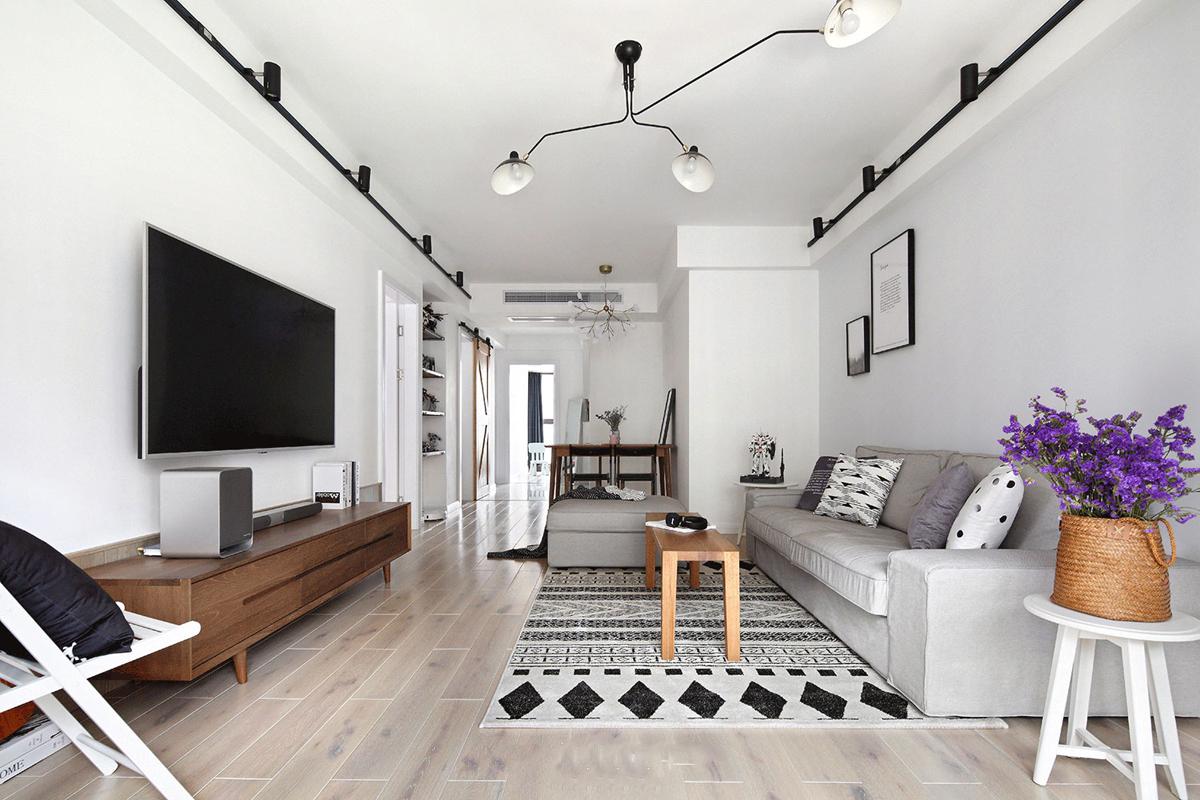 87平北欧风格三居室