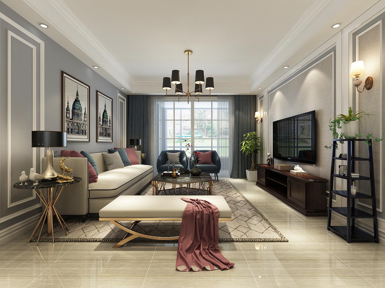 108平大宅效果既视感的现代轻奢风三居室