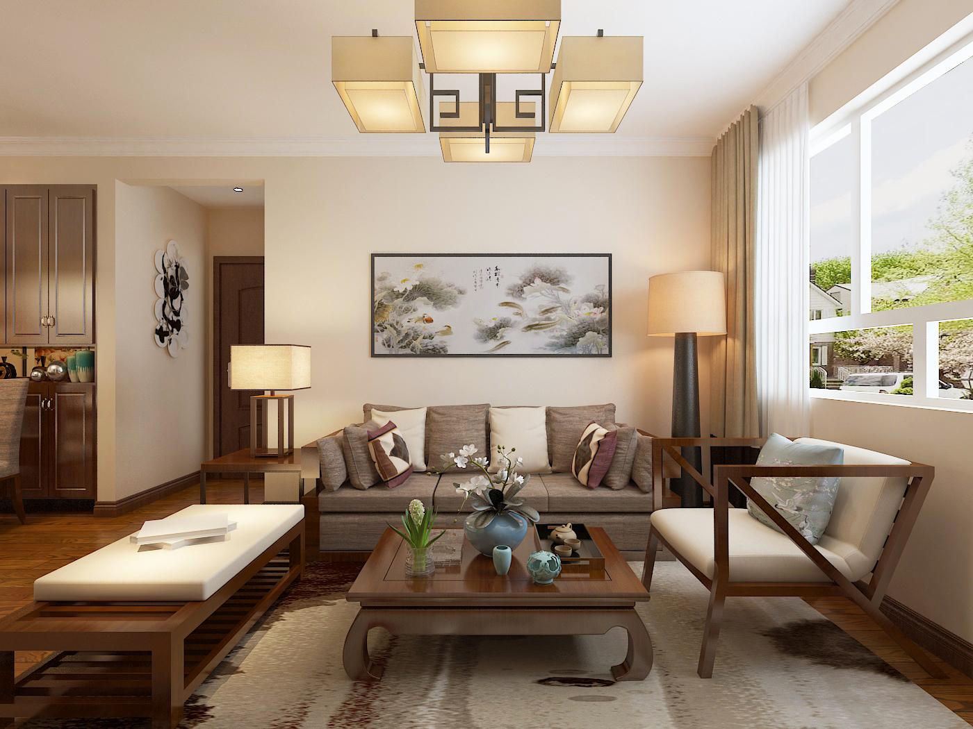 清波新村91㎡ 中式风格二居室