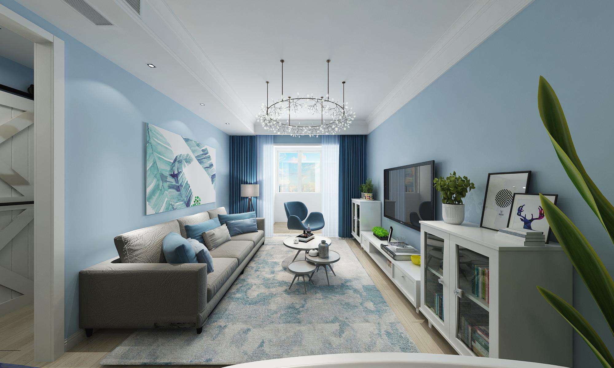 流水西苑85㎡ 现代风格二居室