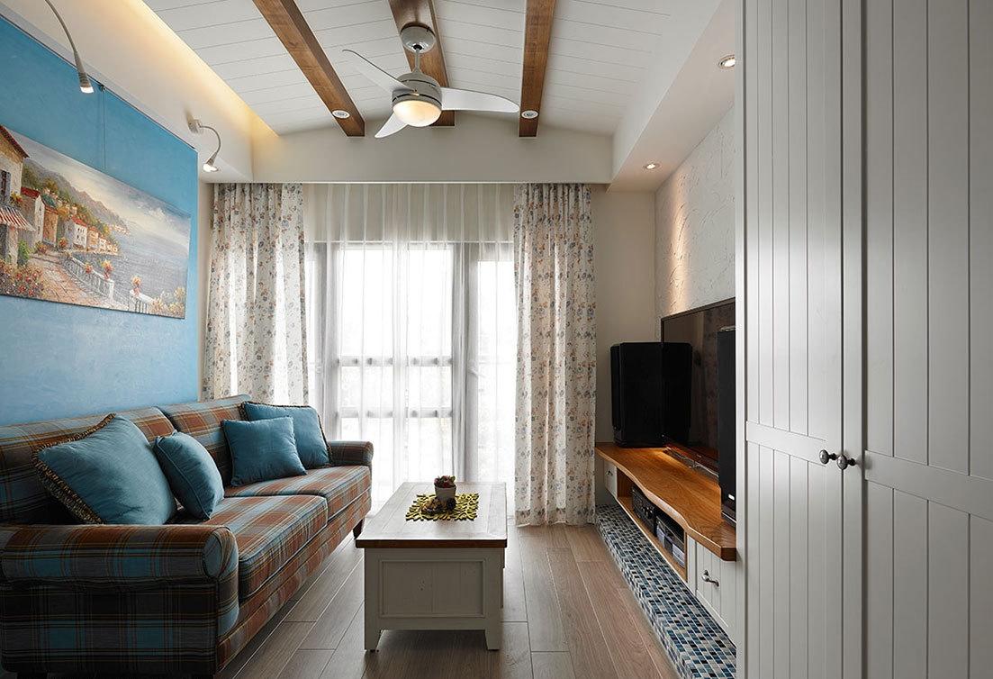 87平地中海二居室收纳化零为整,营造开阔空间