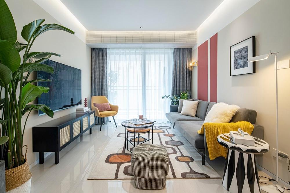 87平简单经济的舒适宅三居室