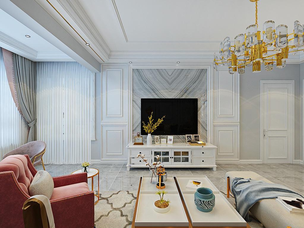 保俶路88平法式舒适温馨有格调之家三居室