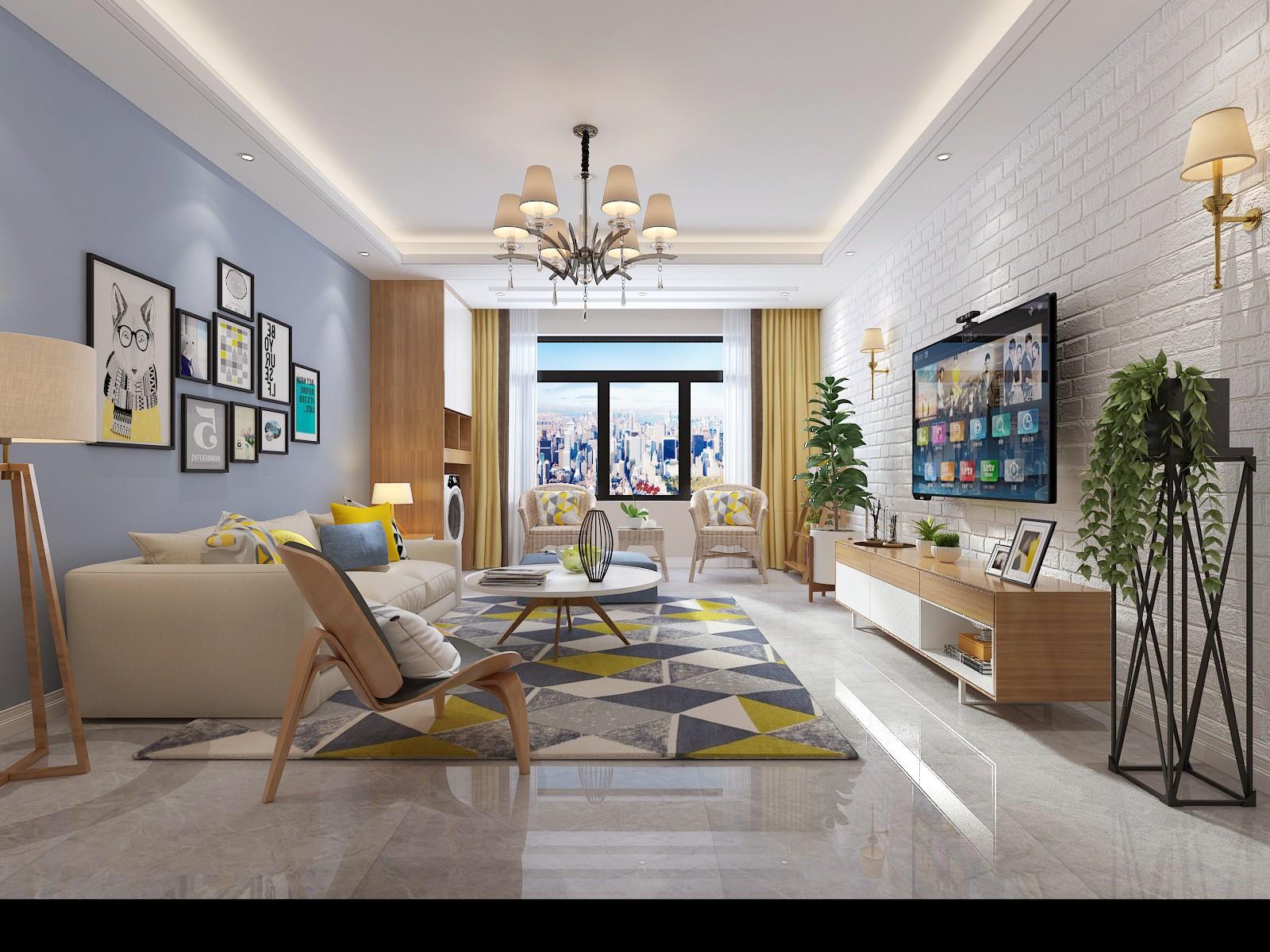 印象金座110平北欧风格三居室