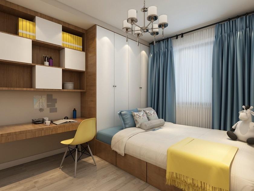 富春水岸120平简约风格三居室