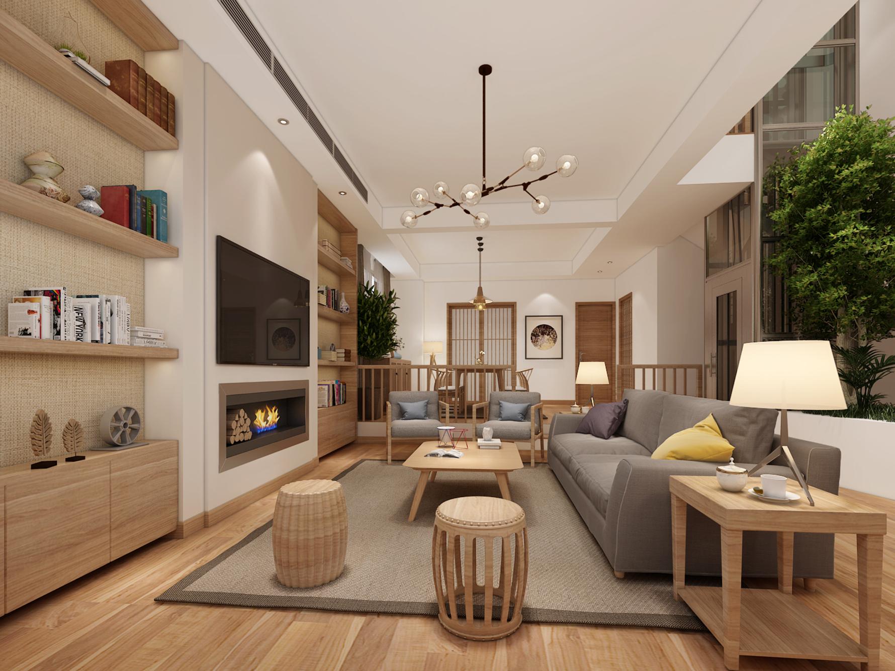 家景园103平米日式风格三居室