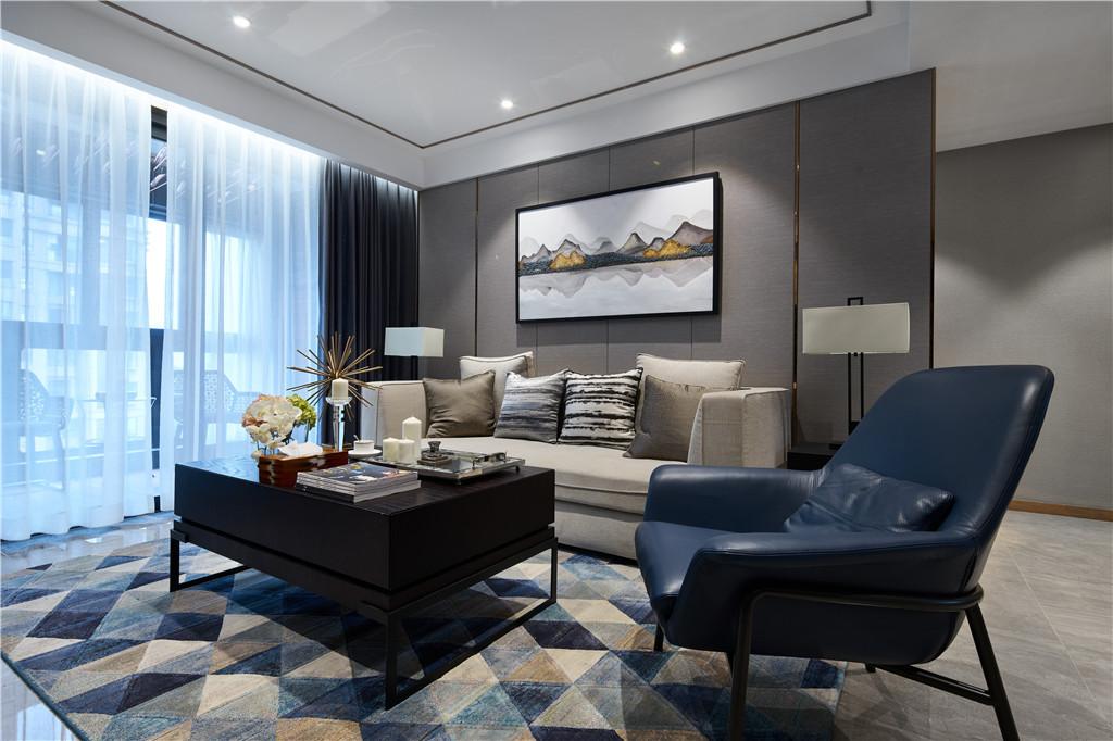 110平现代简约混搭新中式三居室
