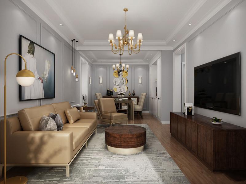 115平现代时尚混搭三居室