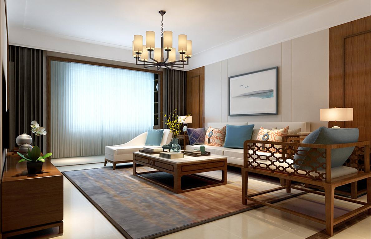 118平米新中式装修三居室