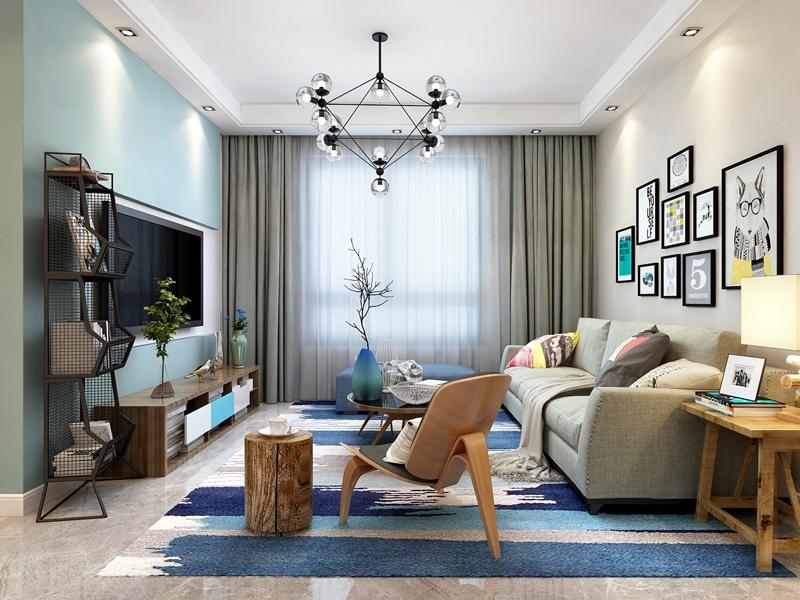 三塘汶园106平米现代简约二居室