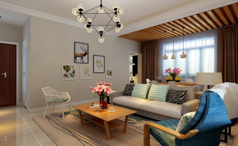 滨文苑110平米现代简约三居室