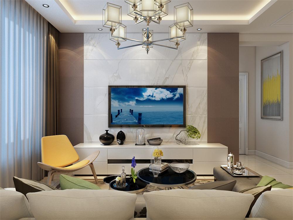 现代风格中国铁建国际城 三室99平米