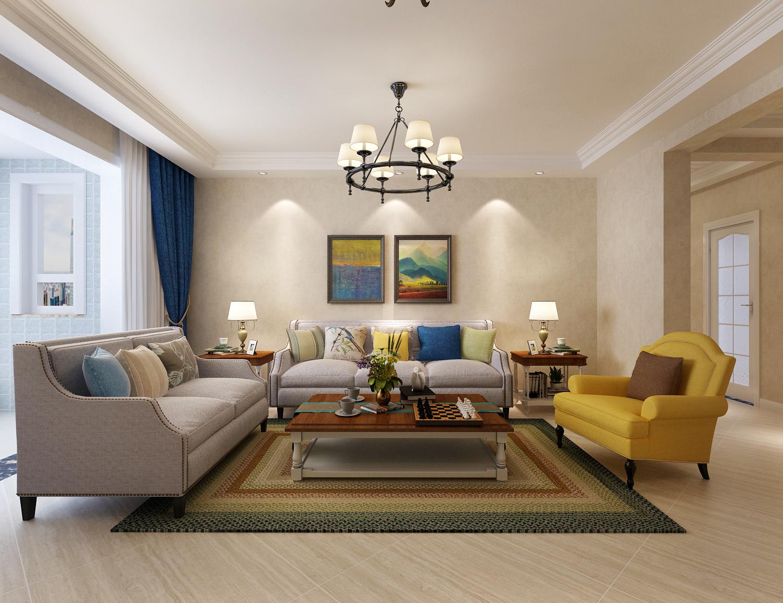 旭辉国悦府124平三室两厅一卫简美风格