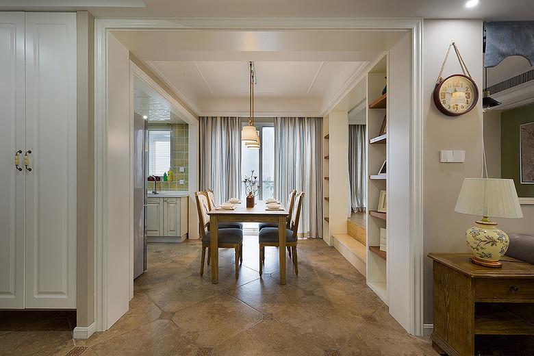 万家花园美式117平欧美风情三居室