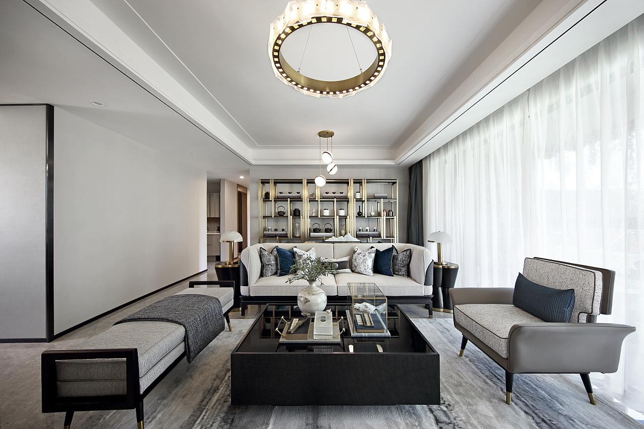 119平米新中式风格装修,将空间利用到极致三居室
