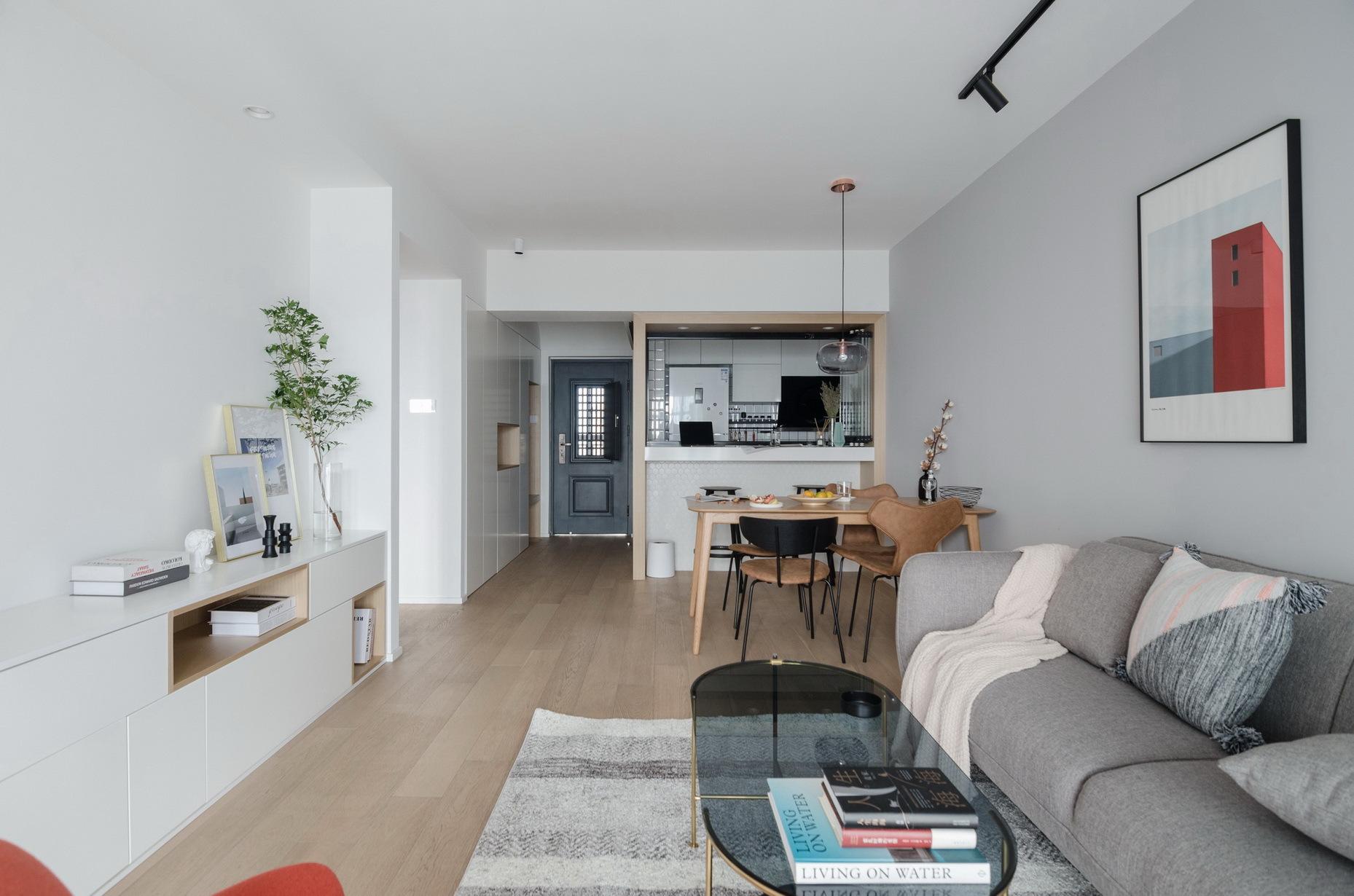 小空间也可以装得很大气82平北欧二居室