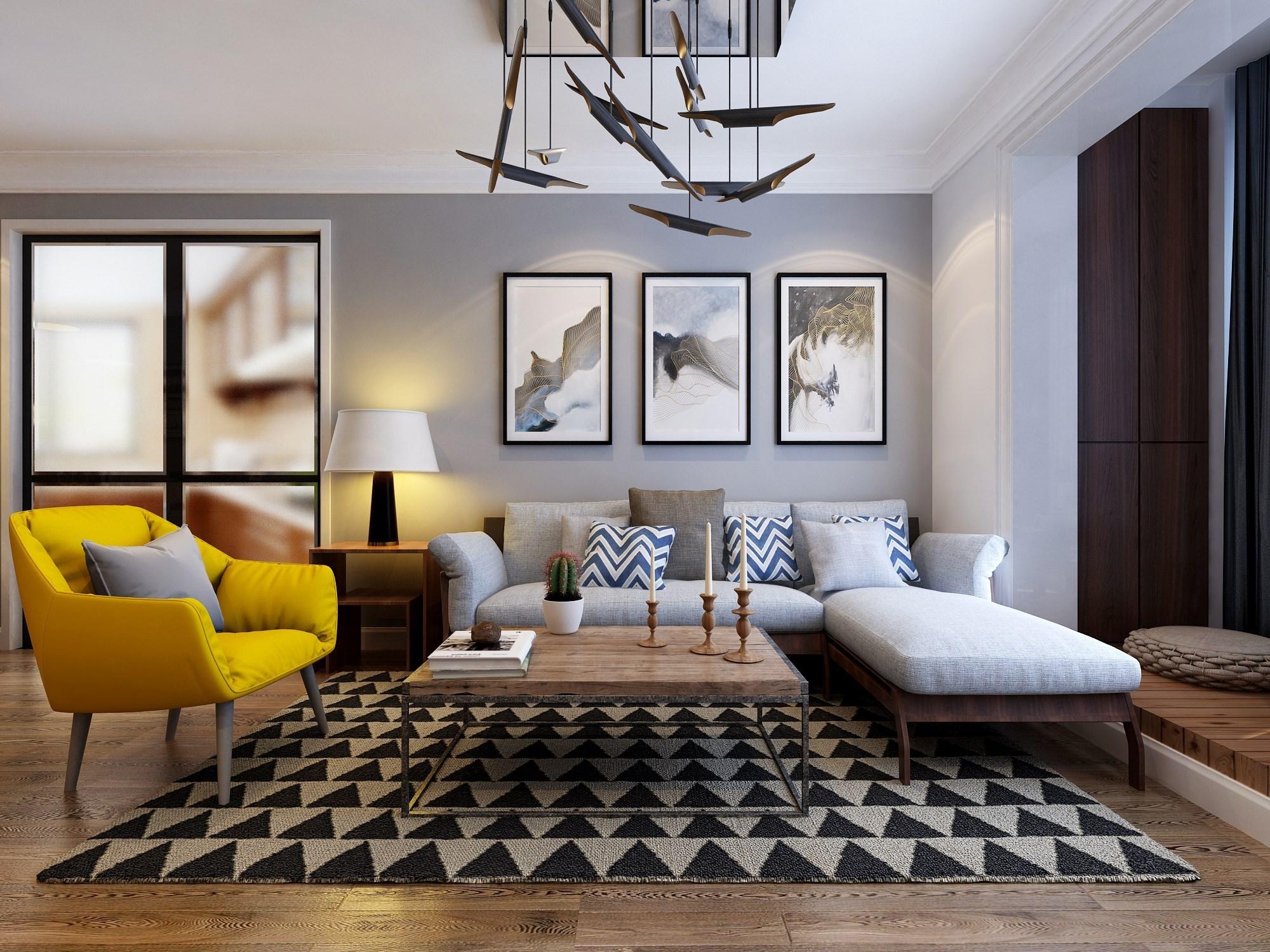 金都西花庭 90㎡ 现代简约二居室