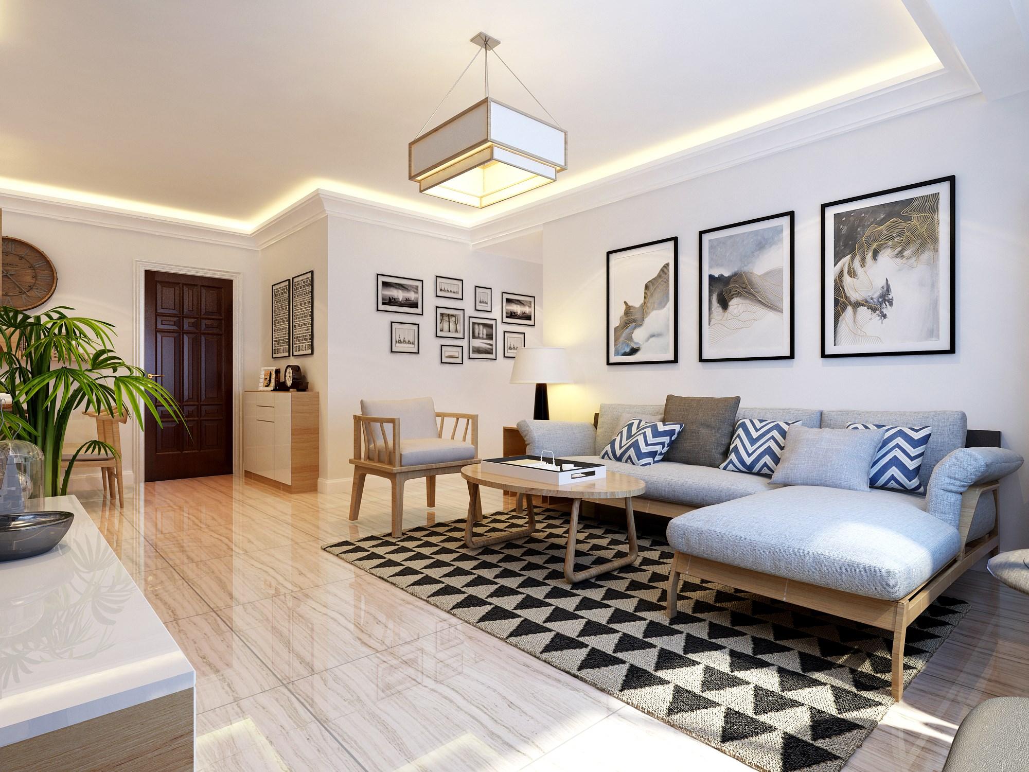 荣安翡翠半岛102㎡ 现代风格二居室