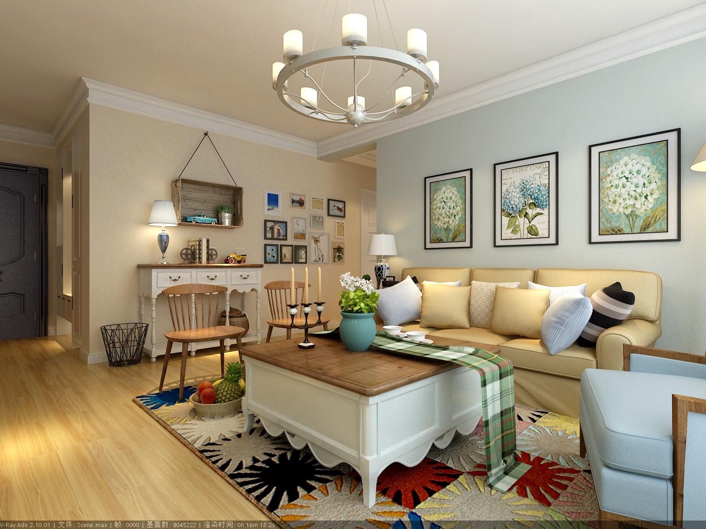 新城香悦半岛120㎡ 简约美式风格三居室