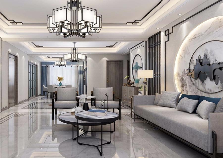 香江91平米两居室新中式风格二居室