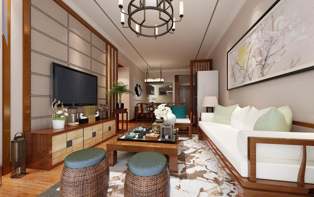 恒逸金榈湾85平中式古典三居室